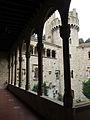 075 Castell de Santa Florentina (Canet de Mar), galeria del Tallat, al fons la torre nord-oest.JPG