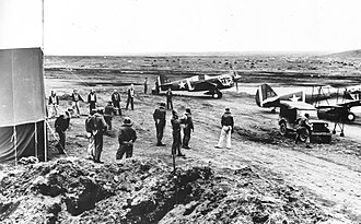 Cape Air Force Base - 11th Fighter Squadron P-40 Warhawks at Fort Glenn AAB, June 1942.