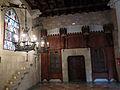 123 Castell de Santa Florentina (Canet de Mar), menjador reial, armari de la vaixella.JPG