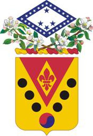 142nd Field Artillery Regiment - Coat of arms