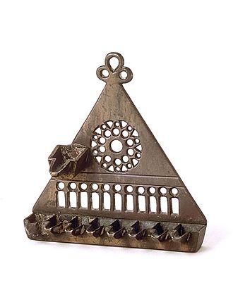 Menorah (Hanukkah) - A 14th-century Hanukkah lamp, France - Musée d'Art et d'Histoire du Judaïsme