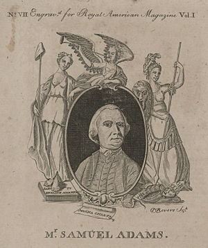 Royal American Magazine - Image: 1774 Sam Adams Royal American Magazine