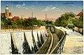 18203-Kamenz-1914-Dammpromenade mit Eisenbahngleisen-Brück & Sohn Kunstverlag.jpg