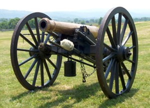 Field artillery in the American Civil War - 1841 Model Gun, Fires 6 lb. projectiles, Workhorse of Mexican War, but considered obsolete by Civil War, Weight: 1,784 pounds, Range: up to 1,523 yards