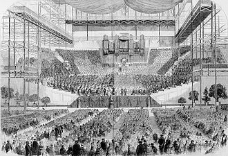 Penge - Inside the Crystal Palace concert hall 1857