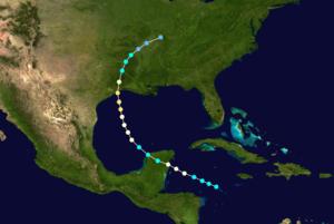 1879 Atlantic hurricane season - Image: 1879 Atlantic hurricane 3 track