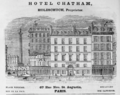 1885 Hotel Chatham Paris ad Harpers Handbook for Travellers in Europe.png