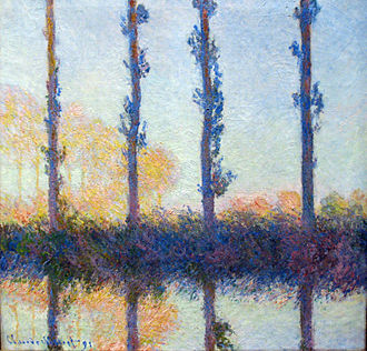 Poplars (Monet series) - The Four Trees, (Four Poplars on the Banks of the Epte River near Giverny), 1891, Metropolitan Museum of Art
