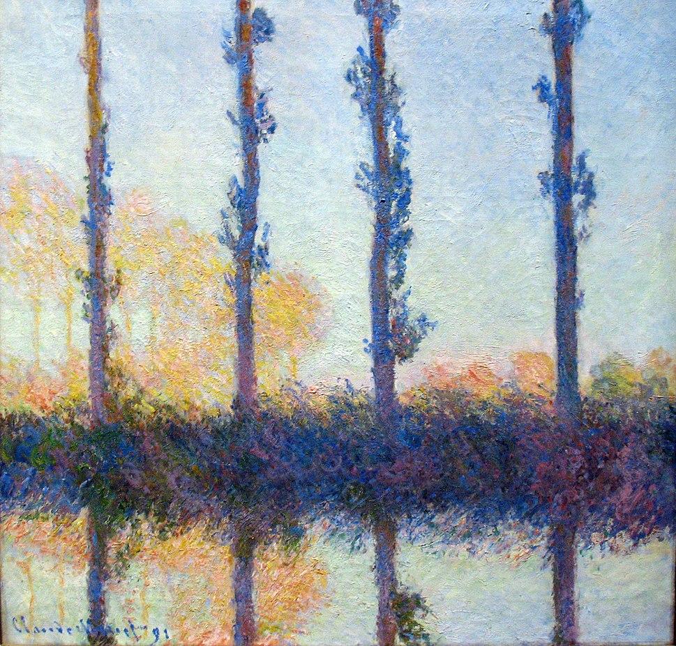 1891 Monet The four trees anagoria