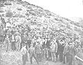 1909-04-07, Actualidades, Inauguración del pantano del Guadalmellato, Montilla y Goñi (cropped) El señor Sánchez Guerra y los invitados á la inauguración de las obras.jpg