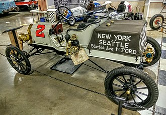Ocean to Ocean Automobile Endurance Contest - The 1909 Model T Ford race winner on display at the California Automobile Museum