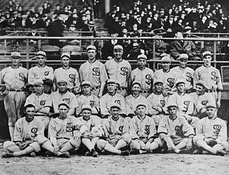 "1919 Major League Baseball season - Team photo of the infamous ""Black Sox"" team."