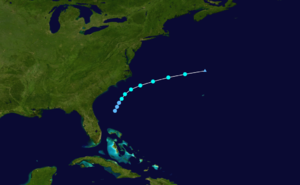 1925 Atlantic hurricane season - Image: 1925 Atlantic tropical storm 2 track