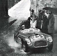 Dorino Serafini in the Ferrari 166 MM at the 1950 Mille Miglia