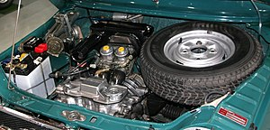 Honda N360 - 1969 Honda N360 air-cooled engine
