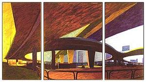 Oliver Bevan - Image: 1987 OLIVER BEVAN Westway Triptych