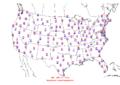 2006-04-22 Max-min Temperature Map NOAA.png