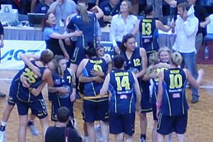 University of Canberra Capitals - Capitals win the 2009 WNBL Title