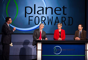 Planet Forward - Frank Sesno talks to guests Thomas Connelly, Jr., executive vice president and chief innovation officer for DuPont, Jennifer Granholm, former governor of Michigan, and Andrew Revkin.