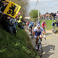 2012 Ronde van Vlaanderen, Peloton led by David Boucher (6892168770).jpg
