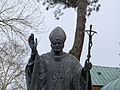 2013 Memorial of Jan Paweł II pope near Płock Catedral - 02.jpg