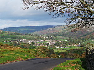 Reeth - Image: 2013 Reeth from Grinton Lodge