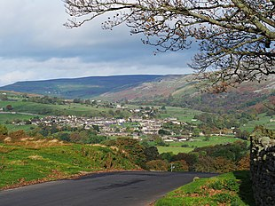 Reeth as seen from Grinton Lodge Youth Hostel