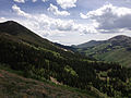 2014-06-24 14 16 33 View southwest toward the Copper Mountains from Elko County Route 748 (Charleston-Jarbidge Road) between Bear Creek Summit and Coon Creek Summit, Nevada.JPG