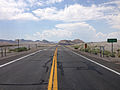 2014-07-17 12 26 46 View south along U.S. Route 95 at the border between Nye County and Esmeralda County in Tonopah, Nevada.JPG