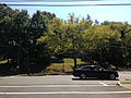2014-08-27 12 47 40 Traffic signal at the intersection of Parkside Avenue (Mercer County Route 636), Bellevue Avenue and the entrance to Cadwalder Park in Trenton, New Jersey.JPG