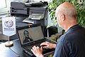 2015-07-03 Claus-Peter Enders im Wikipedia-Büro Hannover, Scan Wilhelm Friedrich Otto Graf von Borries.jpg
