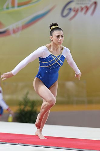 Claudia Fragapane - Fragapane on vault at the 2015 European Championships