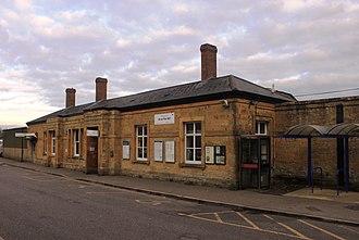 Yeovil Pen Mill railway station - Image: 2016 at Yeovil Pen Mill exterior