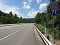 2017-07-24 13 43 53 View north along Interstate 77 just north of Exit 132 (Jackson County Route 21, Fairplain, Ripley) in Fairplain, Jackson County, West Virginia.jpg