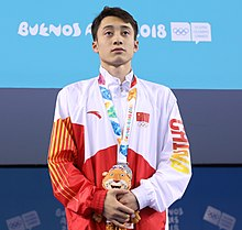 2018-10-16 Victory ceremony (Diving Boys 10m platform) at 2018 Summer Youth Olympics by Sandro Halank–035.jpg