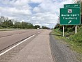 2019-05-17 14 31 40 View east along Interstate 68 and U.S. Route 40 (National Freeway) at Exit 34 (Maryland State Route 36, Westernport, Frostburg) in Wrights Crossing, Allegany County, Maryland.jpg
