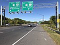 2019-09-24 10 08 13 View west along Maryland State Route 665 (Aris T. Allen Boulevard) at the exit for U.S. Route 50 EAST and U.S. Route 301 NORTH (Bay Bridge) in Parole, Anne Arundel County, Maryland.jpg
