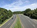 2020-07-30 10 03 45 View west along Maryland State Route 43 (White Marsh Boulevard) from the overpass for U.S. Route 1 (Belair Road) in Overlea, Baltimore County, Maryland.jpg