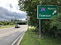 2020-08-07 17 15 16 View west along Maryland State Route 372 (Wilkens Avenue) at the exit for Interstate 695 NORTH (Towson) on the edge of Catonsville and Arbutus in Baltimore County, Maryland.jpg