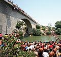 20 Gjakovë - Kërcime nga Ura e Fshejt - Jumping from the Fshajt Bridge.jpg