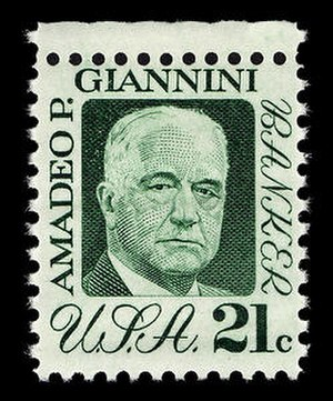 Amadeo Giannini - 1973 U.S. postage stamp featuring Giannini