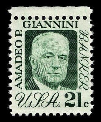 Amadeo Giannini - 1973 U.S. postage stamp featuring Giannini
