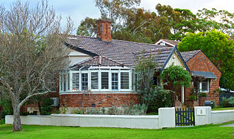 East Lindfield, New South Wales - c. 1930 house, Sydney Road
