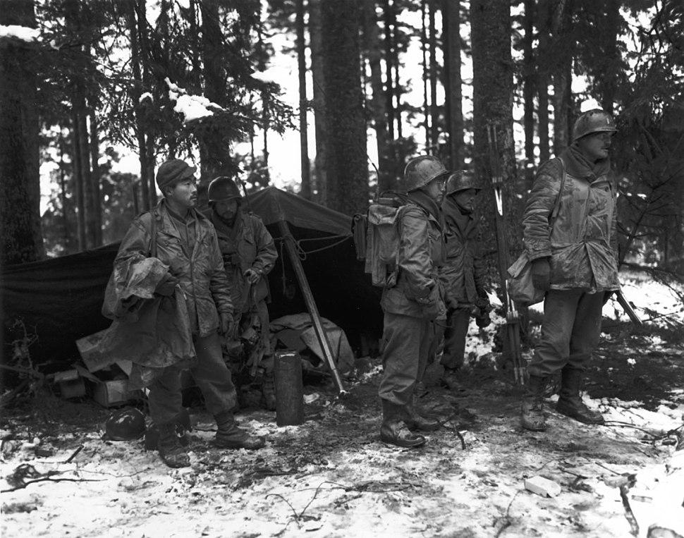 2nd Battalion, 442nd RCT near Saint-Dié 1944-11-13
