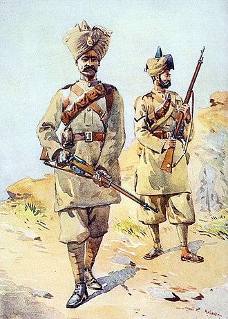 30th Punjabis - Image: 30th and 20th Punjabis, Lovett 1910
