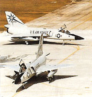 318th Fighter-Interceptor Squadron - Squadron F-106s with the last rendition of the squadron's markings