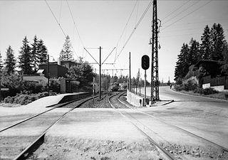Sørbyhaugen (station) railway station in Vestre Aker, Norway