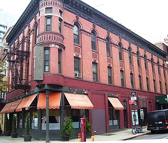 West Village - 396-397 West Street at West 10th Street is a former hotel which dates from 1904, and is part of the Weehawken Street Historic District