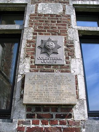 Coldstream Guards - Waterloo – Hougoumont plaque