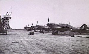 No. 451 Squadron RAAF - 451 Sqn Hurricane fighters at Rayak, Syria during 1942.